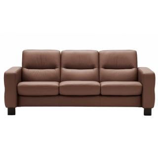 Stressless Wave Low Back 3 Seater Sofa, Leather