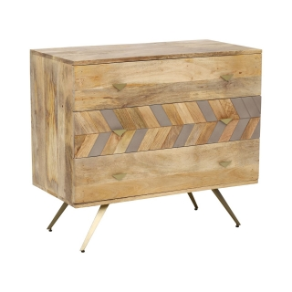 Leif Chest of 3 Drawers, Natural Mango Wood