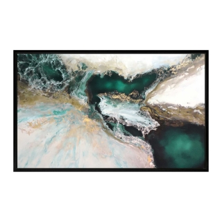 Emerald Abyss Framed Canvas