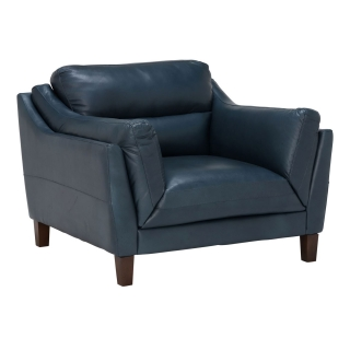 Luca Leather Maxi Chair, Indiana Teal