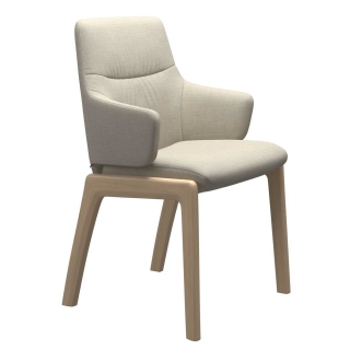 Stressless Mint Low Back Dining Armchair With D100 Legs, Quickship