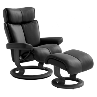 Stressless Magic Classic Chair & Stool, Choice of  Batick Leather
