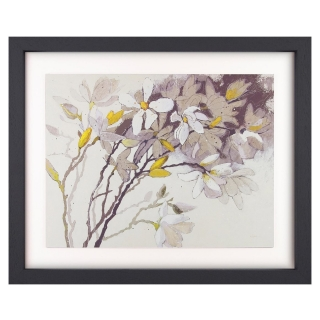 Magnolias Picture, Yellow and Grey