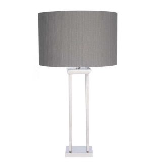 Four Post Table Lamp, Nickel