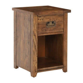 New Frontier Mango Wood 1 Drawer Bedside