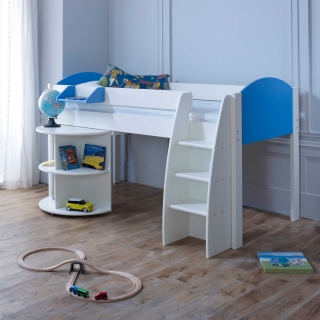 Eli B Childrens Midsleeper Bed with pull out Desk