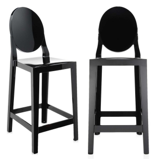 Pair of Kartell One More Counter Stools, Black