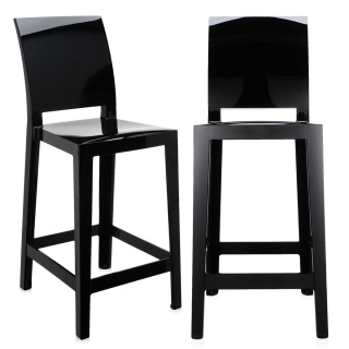 Pair of Kartell One More Please Counter Stools, Black