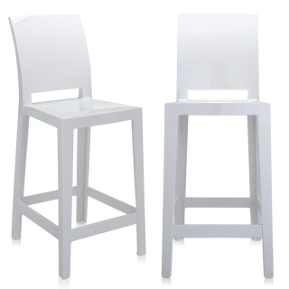 Pair of Kartell One More Please Counter Stools, White