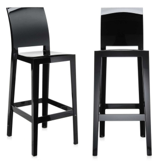 Pair of Kartell One More Please Bar Stools, Black
