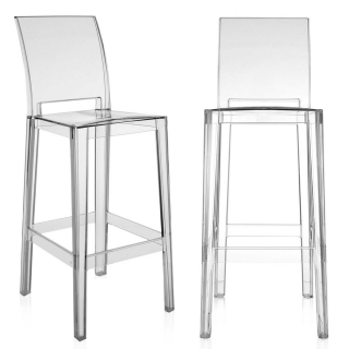 Pair of Kartell One More Please Bar Stools, Crystal