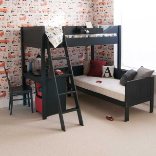 Pippin Childrens Highsleeper with Sofabed And Storage Desk
