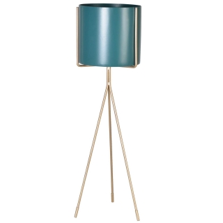Turquoise Plant Stand, Gold