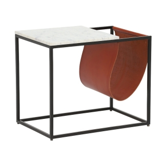 Rima Side Table, White Marble