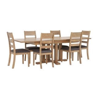 Ibex Extending Table and 6 Ibex Chairs