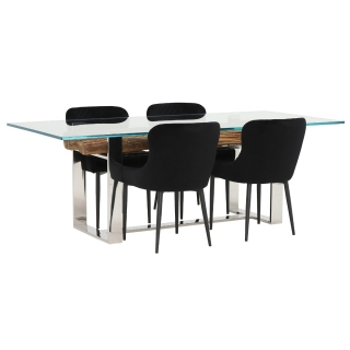 Samar Dining Table and 4 Rivington Chairs