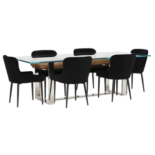 Samar Dining Table and 6 Rivington Chairs