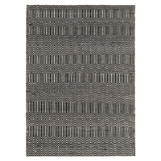 Twine Cotton and Wool Rug, Black