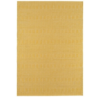 Twine Cotton and Wool Rug, Mustard
