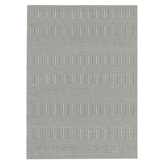 Twine Cotton and Wool Rug, Silver