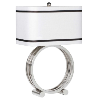 Silver Ring Table Lamp