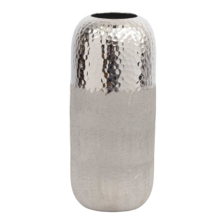 Small Textured Hammered Vase, Silver