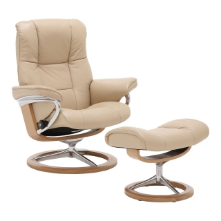 Stressless Mayfair Signature Chair & Stool, Choice of Leather