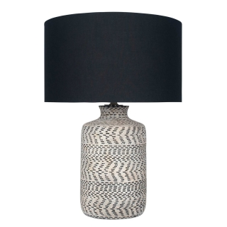 Textured Table Lamp, Natural and Black