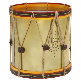 Timothy Oulton Regiment Drum Side Table, Oxidised Brass