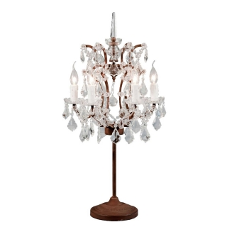 Timothy Oulton Crystal Table Lamp, Antique Rust