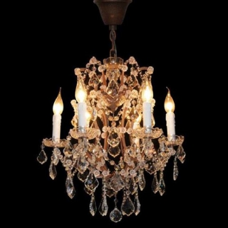 Timothy Oulton Crystal Small Chandelier, Antique Rust
