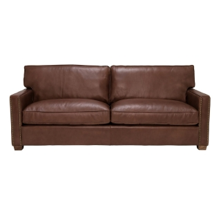 Timothy Oulton Viscount William 3 Seater Leather Sofa, Savage