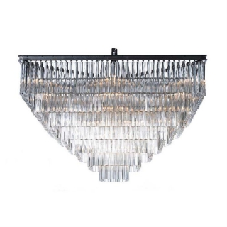 Timothy Oulton Paradise 7 Ring Chandelier, Natural
