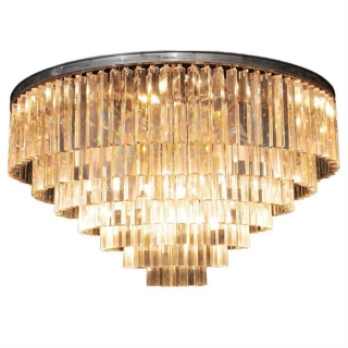 Timothy Oulton Odeon Large 7 Ring Chandelier, Natural