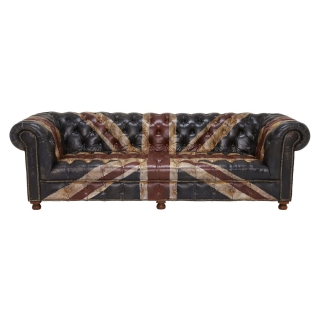Timothy Oulton Westminster Button 3 Seater Chesterfield Sofa, Jack'dn Broken
