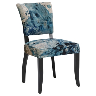Timothy Oulton Mimi Velvet Faded and Degraded Dining Chair, Melting Paisley