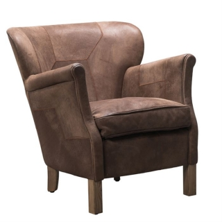 Timothy Oulton Furious Professor Leather Chair, Tobacco