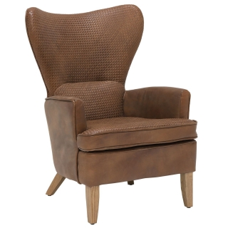 Timothy Oulton Mentor Leather Chair, Destroyed Raw