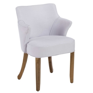 Timothy Oulton Lannister Linen Dining Chair, Ash