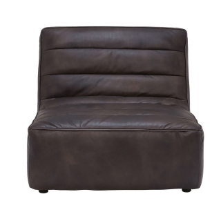 Timothy Oulton Leather Shabby Sectional 1 Seater Sofa