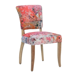 Timothy Oulton Mimi Faded and Degraded Dining Chair, Peiling Ceiling and Weathered Oak