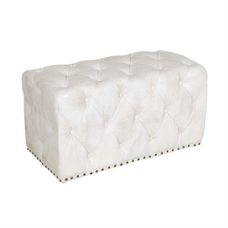 Timothy Oulton Lord Digsby Small Rectangle Leather Footstool