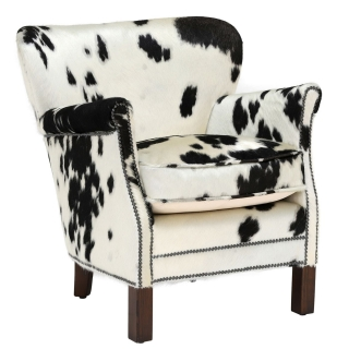 Timothy Oulton Professor Chair, Black and White Moo
