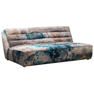 Timothy Oulton Shabby Sectional 4 Seater Sofa, Faded and Degraded Melting Paisley