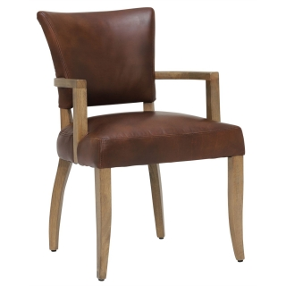 Timothy Oulton Mimi Dining Chair With Arms, Antique Whiskey