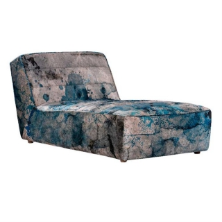 Timothy Oulton Shabby Sectional Chaise, Faded and Degraded Melting Paisley