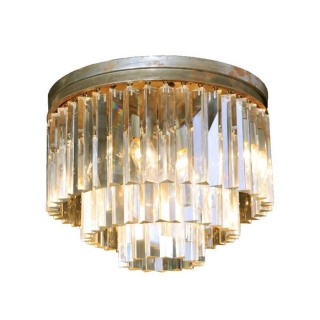 Timothy Oulton Odeon Small 3 Ring Flushmount Chandelier, Natural