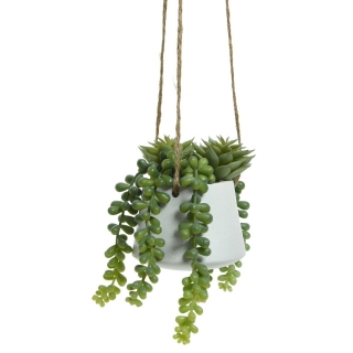 Artificial Trailing Hanging Potted Succulent Plant