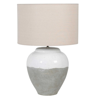 Two Tone Table Lamp, Grey and White
