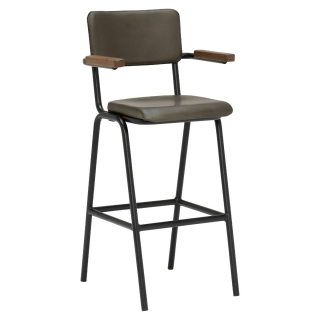 Twyford Leather Barstool with Arms